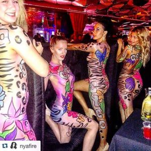 After Party Girls-body Painted